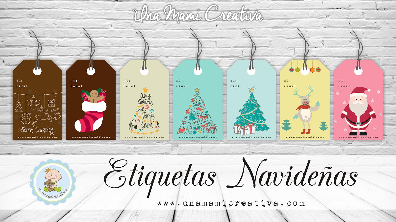 Navidad etiquetas para personalizar tus regalos una - Etiquetas para regalos para imprimir ...