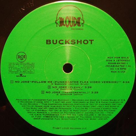 Buckshot – I Aint No Joke / Follow Me (Promo VLS) (1997) (192 kbps)