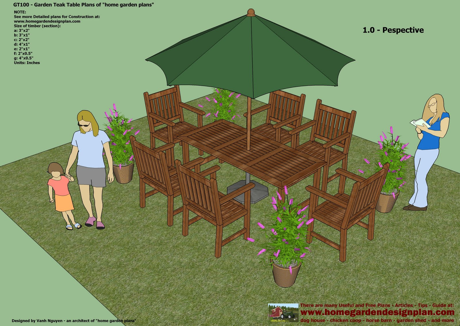 Garden Teak Tables - Woodworking Plans - Outdoor Furniture Plans