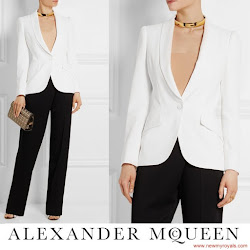 Crown Princess Mary Style ALEXANDER MCQUEEN Crepe Blazer