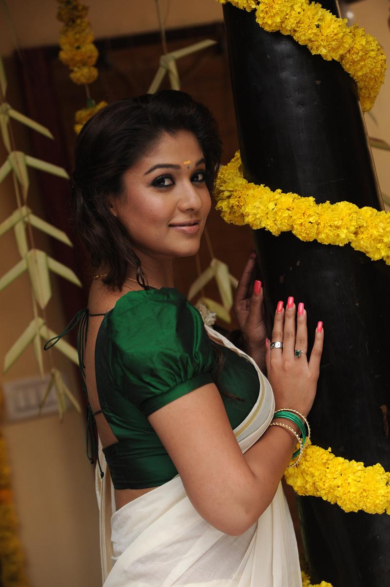 Nayanthara In White Churidar In Raja Rani