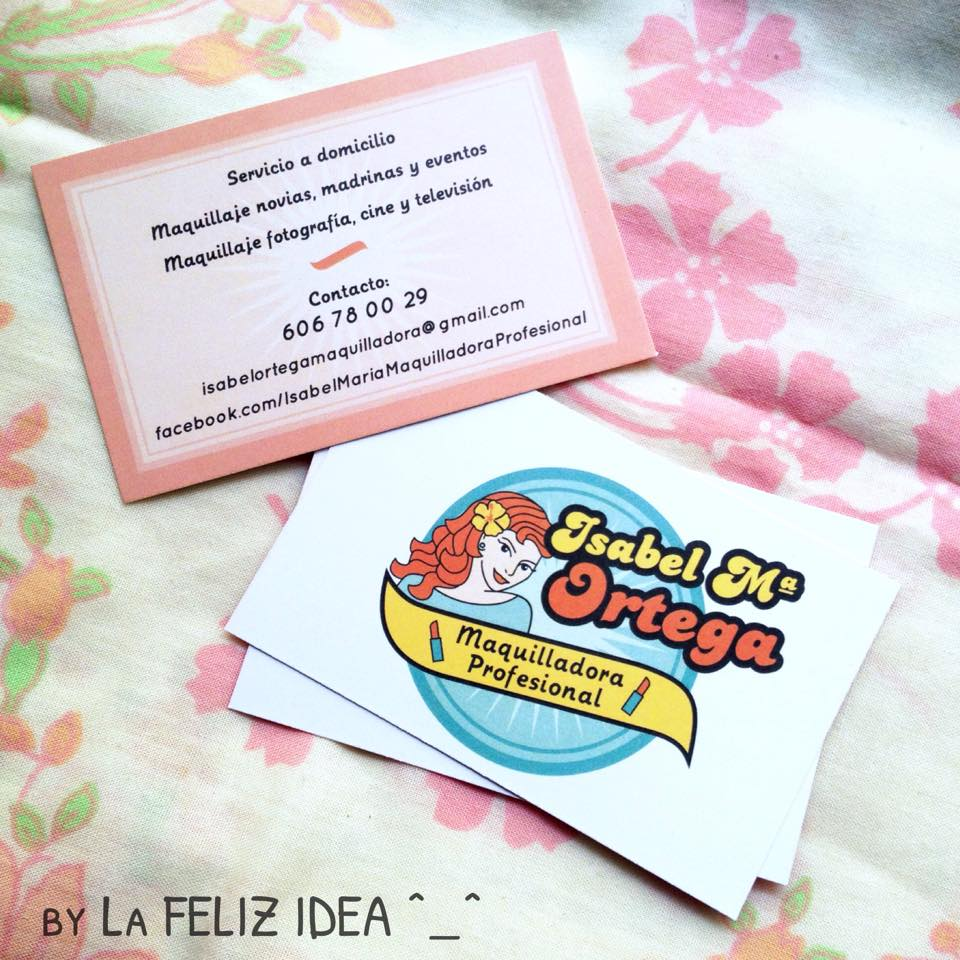 Make up artist business cards pin-up design / Diseño de tarjetas de visita para maquilladora con pin-up