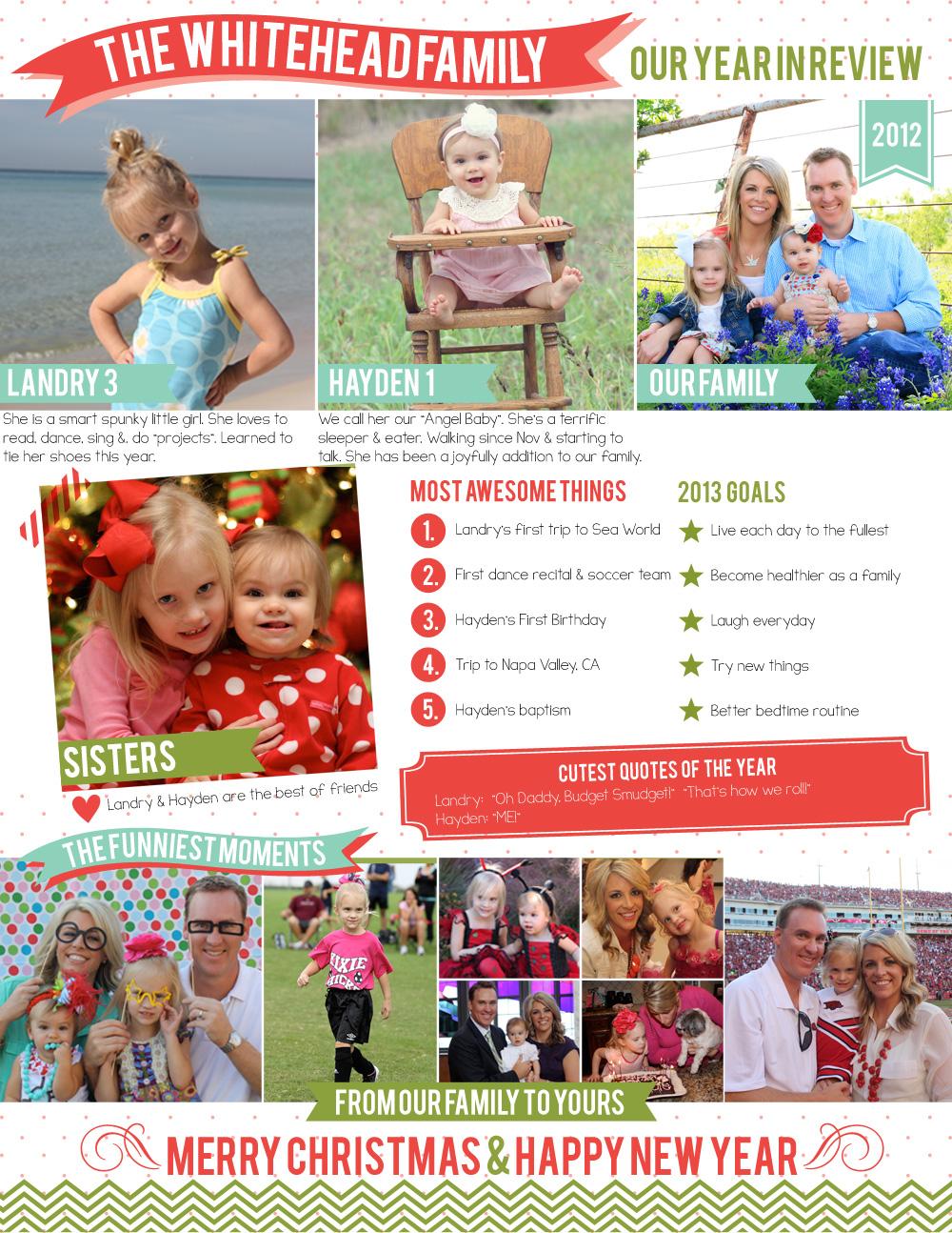 Whitehead's Wonder Years: Family Newsletter