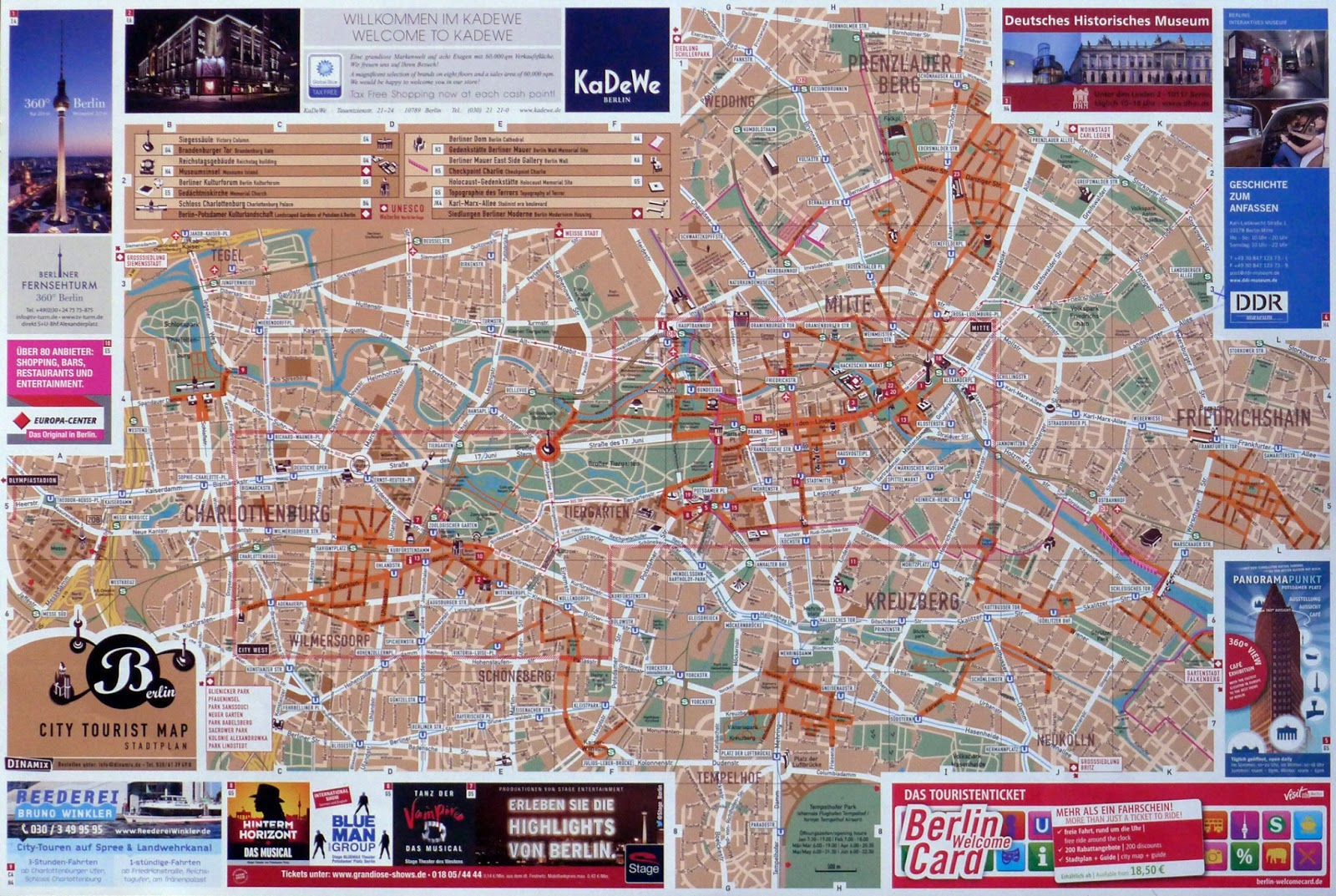 Reading the City A Tourist Map of Berlin 1 – Berlin City Map Tourist