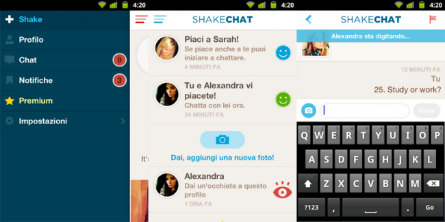 Dating with Shake Chat for Android and iOS application
