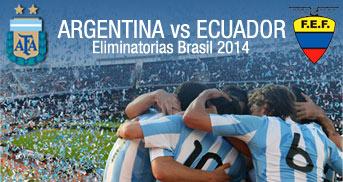 ELIMINATORIAS MUNDIAL BRASIL 2014 ARGENTINA vs. ECUADOR