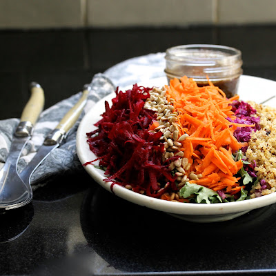 Raw Beet and Quinoa Salad