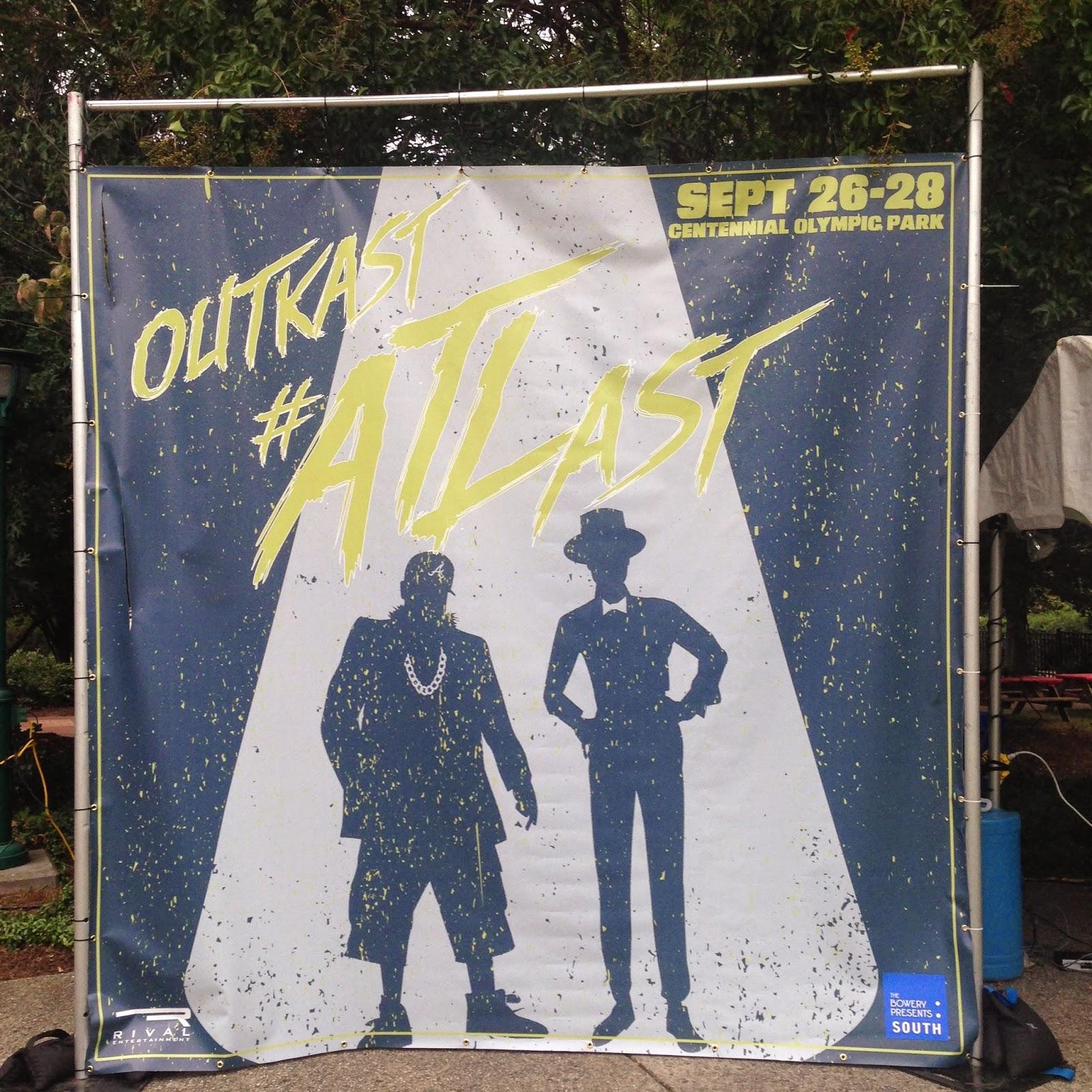 Friday night Outkast concert in Centennial Park