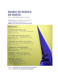 BANDA DE MÚSICA DE BAEZA - PROGRAMA