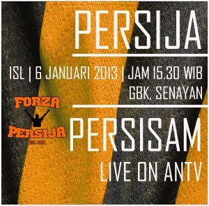 "adapun pertandingan super duper bigmatch "" Persija vs Persisam "" (ISL"