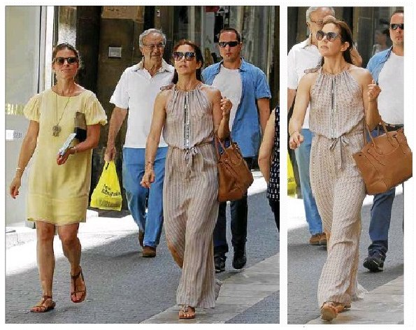 Crown Princess Mary of Denmark in the city centre of Palma de Mallorca,