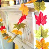 dollar store leaf garland