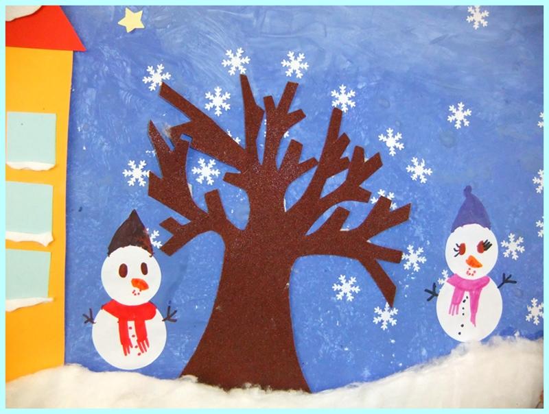 Studiamando liberamente cartellone tattile dell 39 inverno - Immagini da colorare la neve ...
