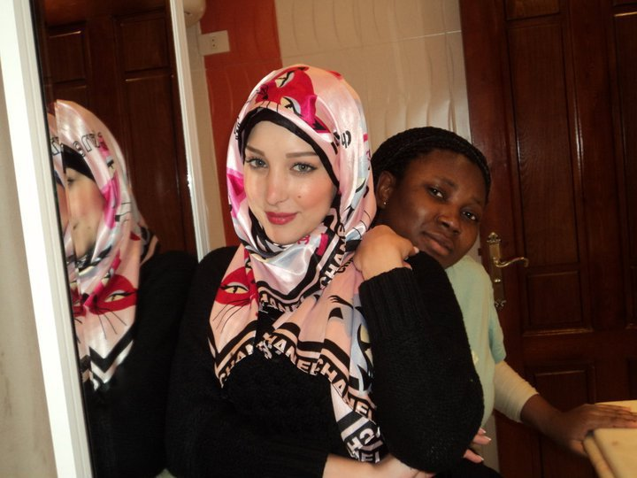 : Photo of Basma Boussil wearing a headscarf 2012 Tamer Hosni wife