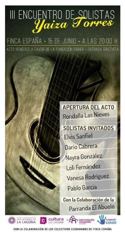 Cultura y Música de La Laguna participa en la organización del III Encuentro de Solistas Yaiza Torres, a beneficio de la Fundación Eidher.