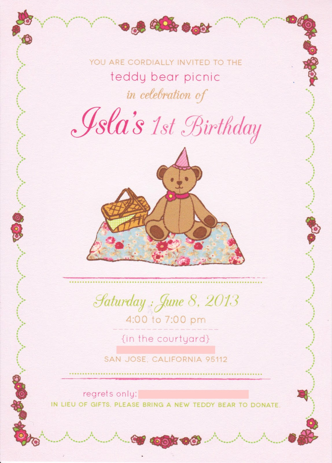 Third and Patterson: Teddy Bear Picnic 1st Birthday