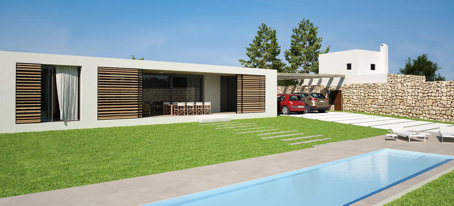 Due architecture design proyecto de vivienda for Proyecto de piscina