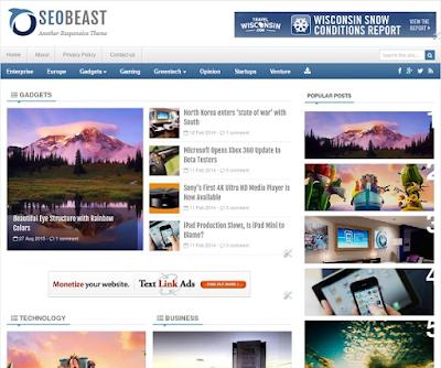 SeoBeast Responsive Blogger Template
