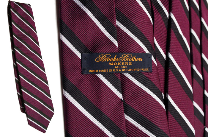 Brooks Brothers purple black stripe