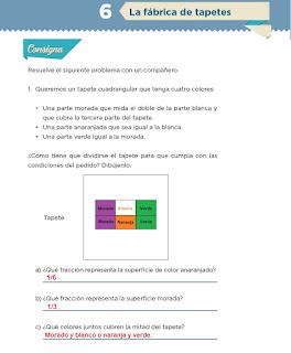 Respuestas Apoyo Primaria Desafíos matemáticos 4to grado Bloque I lección 6 La fábrica de tapetes