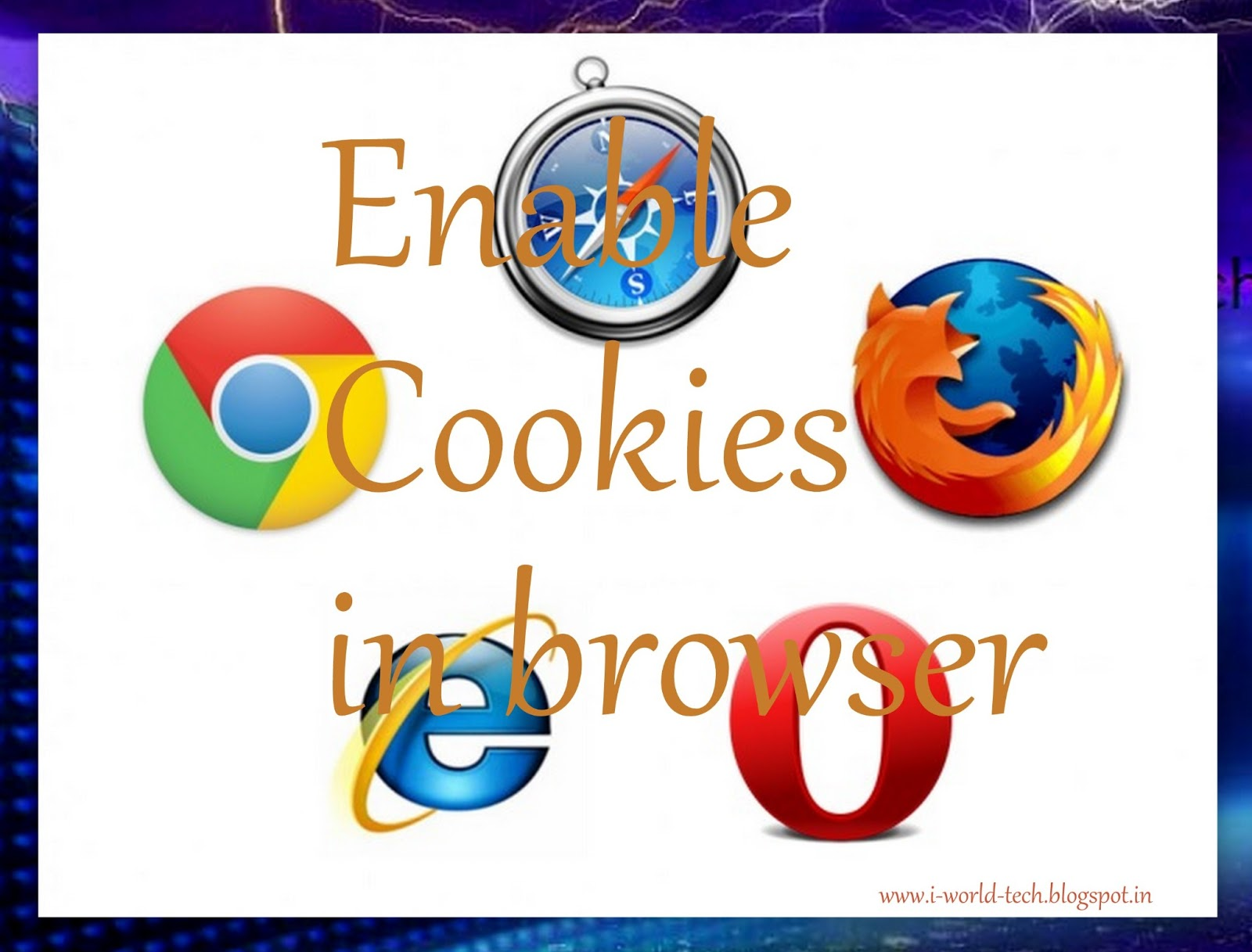 How to enable cookies in browser i world tech Browser cookies