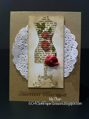 Dolled up Birthday card by Ida Chan