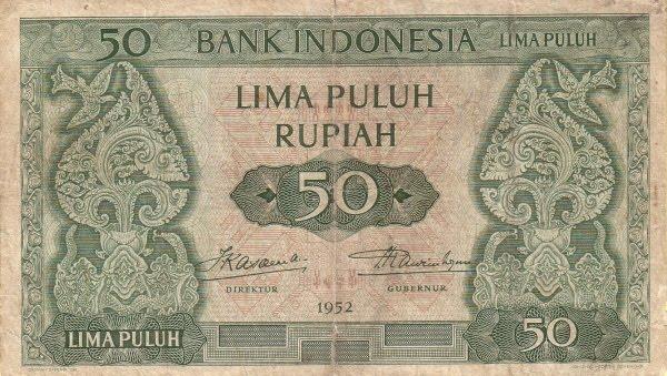 Rp50 tahun 1952