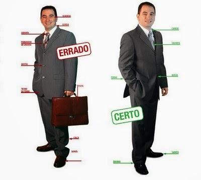 Errado e Certo sobre roupas masculinas para entrevistas de emprego