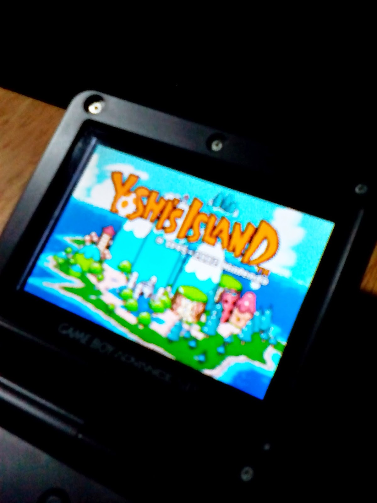 Yoshi's Island on the GBA AGS-101