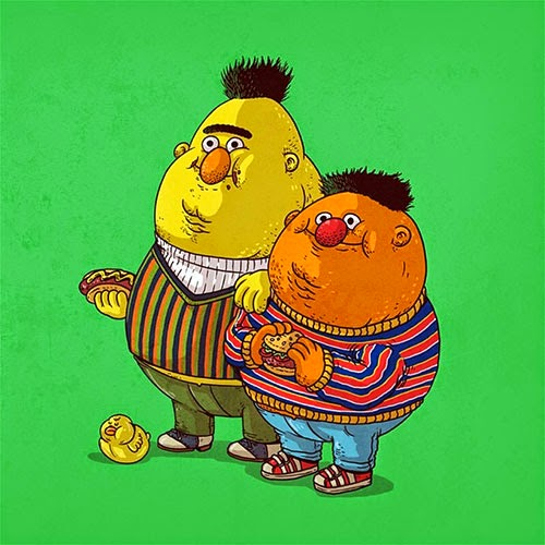 Fat Super Hero Gemuk - Fat Bert & Chunky Ernie