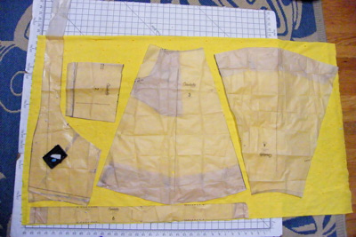 Yellow Eyelet Lonsdale in Progress