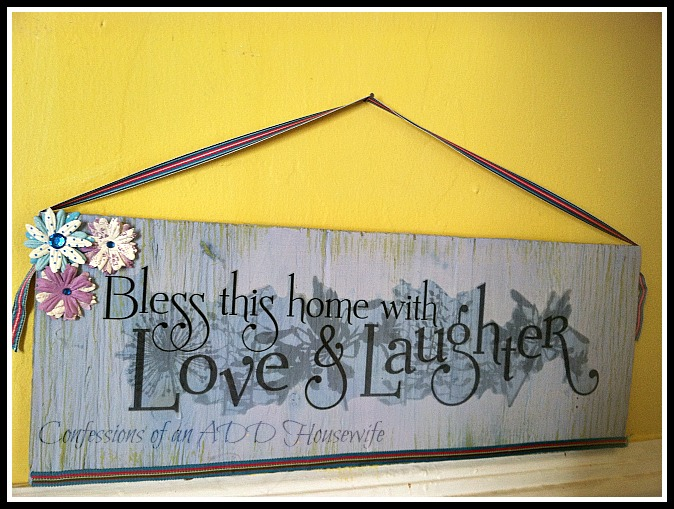 Confessions of an ADD English Teacher: scrap wood wall hanging