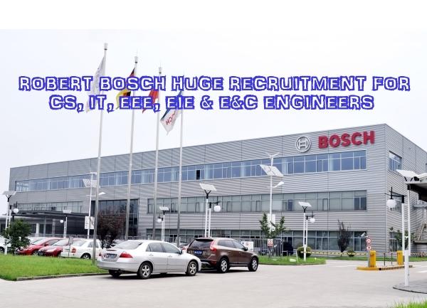 robert bosch urgent recruitment for fresh exp e c eee cs eie telecom engineers on august 2015. Black Bedroom Furniture Sets. Home Design Ideas