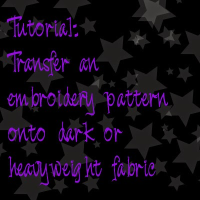 Fandom In Stitches Tutorial Transfer An Embroidery Pattern Onto