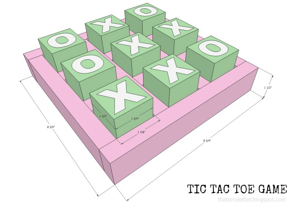 diy tic tac toe game free plans
