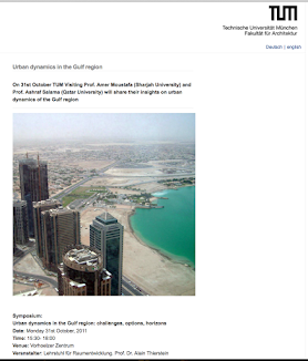 Invited Talk: TU München - Symposium on Urban Dynamics in Gulf Region