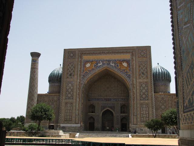 Uzbekistán, Samarcanda - madrasa Sherdor