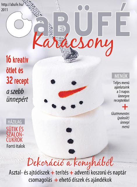 a Büfé magazin karácsonyi száma címlap fotó