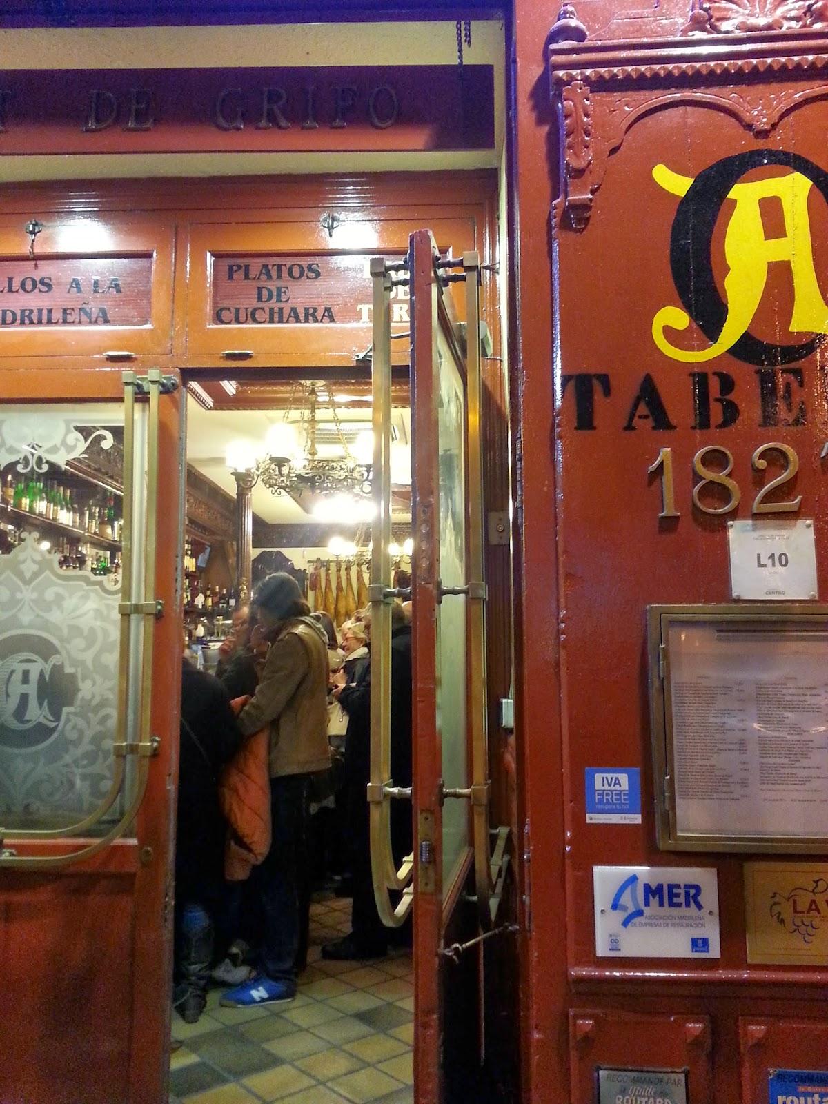 Barrio de las Letras. Madrid. Casa Alberto. Inspección Tabernaria