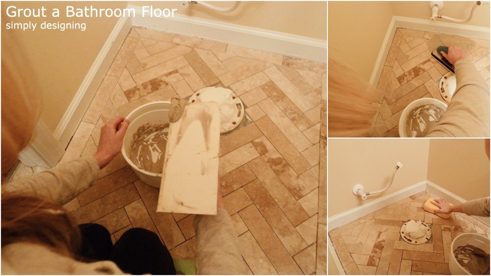 How to Grout a Tile Floor | a complete tutorial for laying tile flooring and herringbone tile flooring | #diy #herringbone #tile #tilefloors #thetileshop @thetileshop
