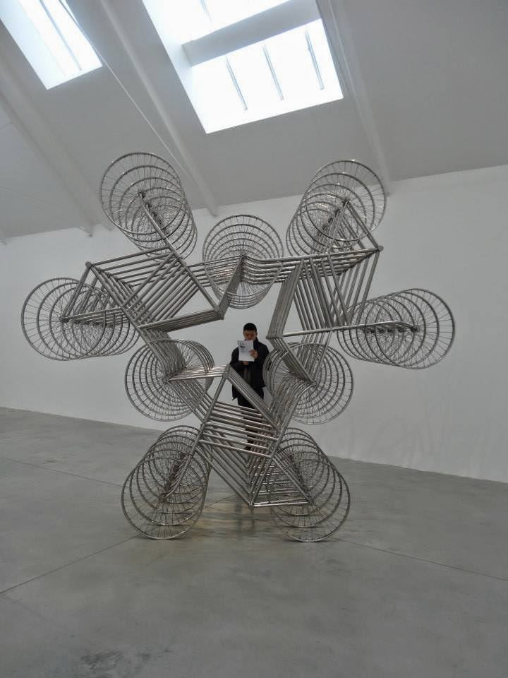Ai Weiwei Exhibition at Lisson Gallery, London - 6 times 4 bikes parallel