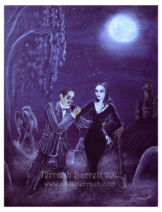 Gomez and Morticia por Terrauh