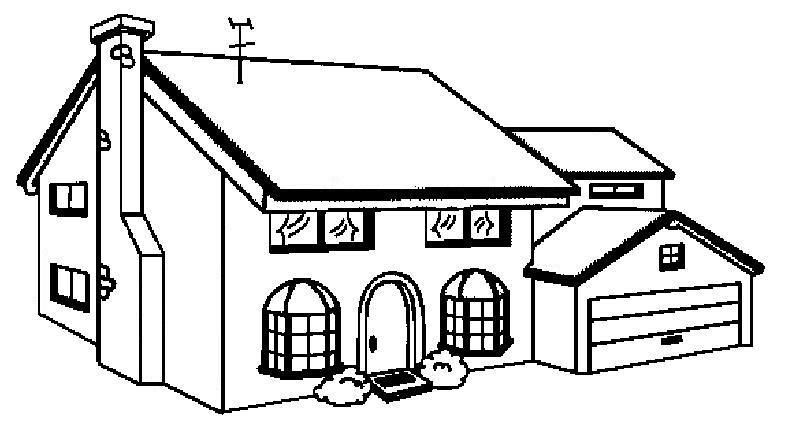 Almir e suzana casas para colorir - Para pintar casas ...