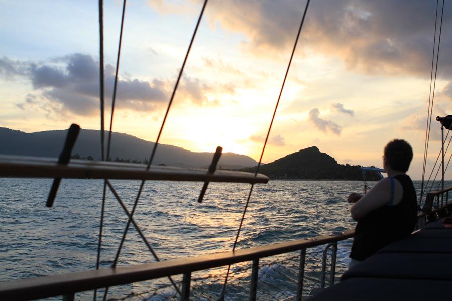 Beautiful sunset from the Naga, Koh Samui cruising, Sailing Koh Samui, sunset watching, stunning