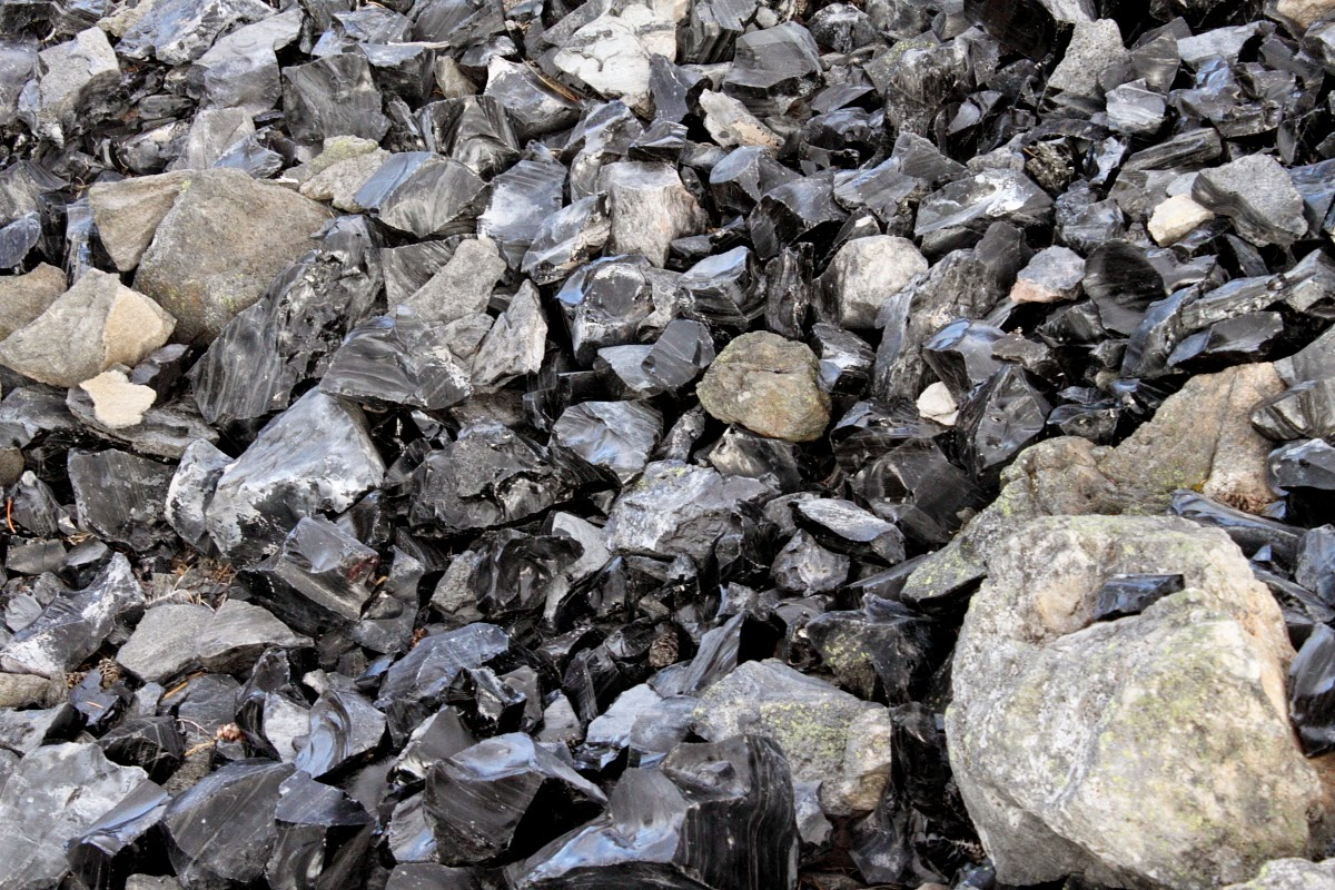 Obsidian Flow, Paulina Lake, Oregon