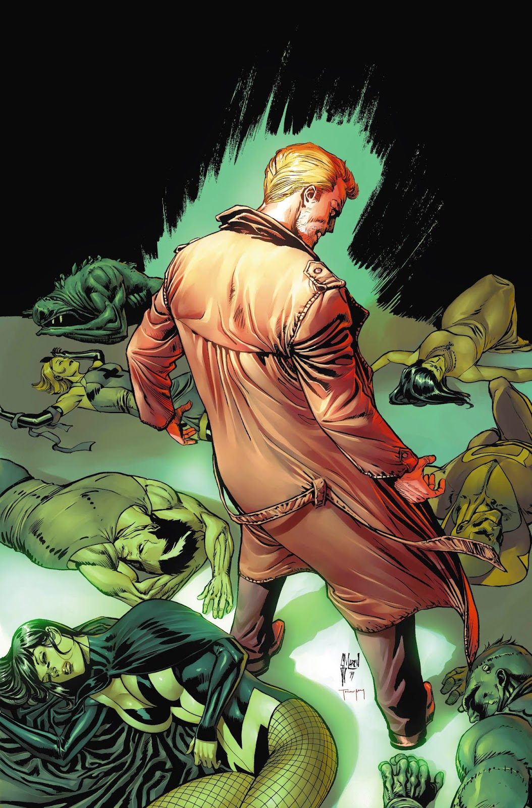 JUSTICE LEAGUE DARK 40 cover progress by Guillem March