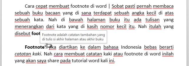 Cara Cepat Membuat Footnote Atau Catatan Kaki Di Word Video