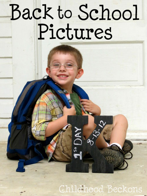 back to school pictures tradition