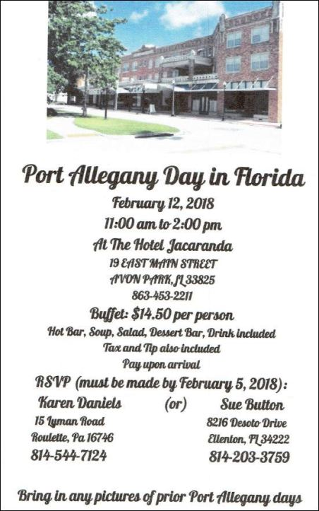 2-12 Port Allegany Day in Florida