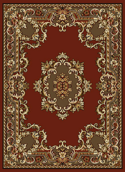 Most Oriental Rugs are rectangular and have a field and border. One of the  most common designs is that of a central medallion either alone or or with